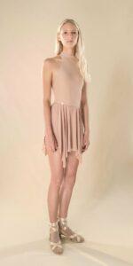 SKINKY nude short skirt 41 r