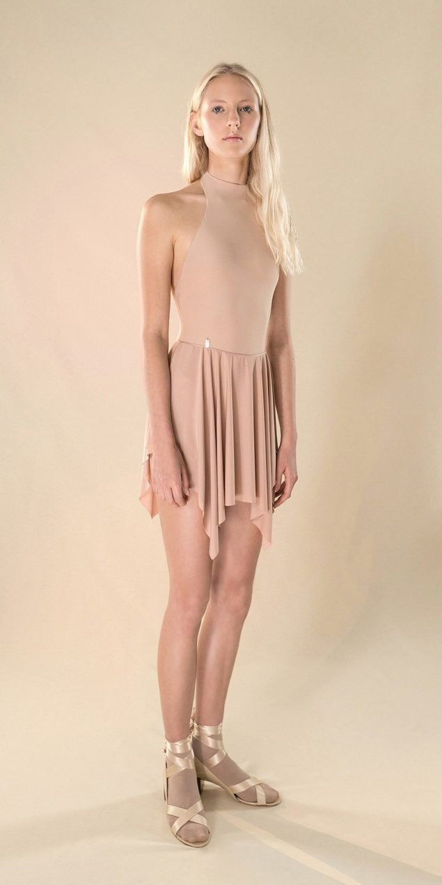 SKINKY nude short skirt 41 r