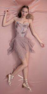 MILLE FEULLE short squere skirt lavender 1