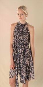 ANIMALISTIC pleated dress black leopardess 1