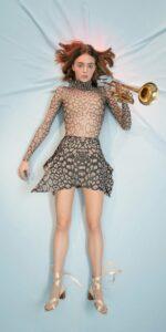 ANIMALISTIC pleated mini skirt black leopardess 1