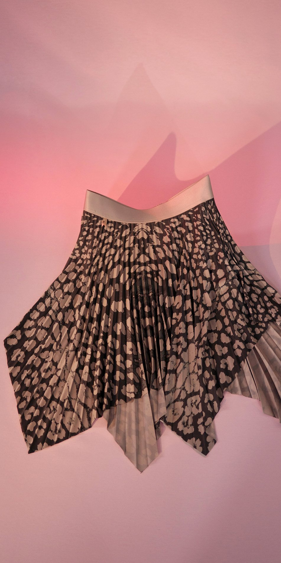 ANIMALISTIC pleated mini skirt black leopardess 4