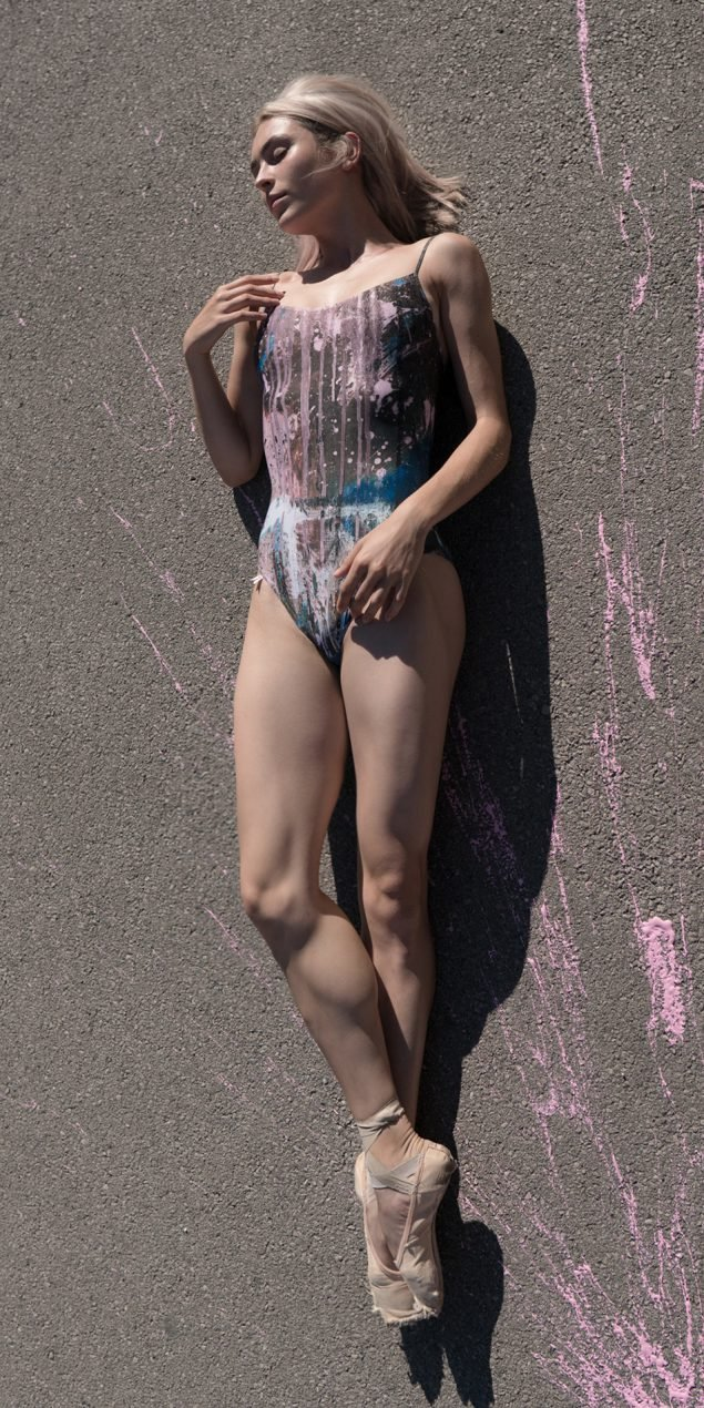 THE CITY BALLET classic leotard negative 2