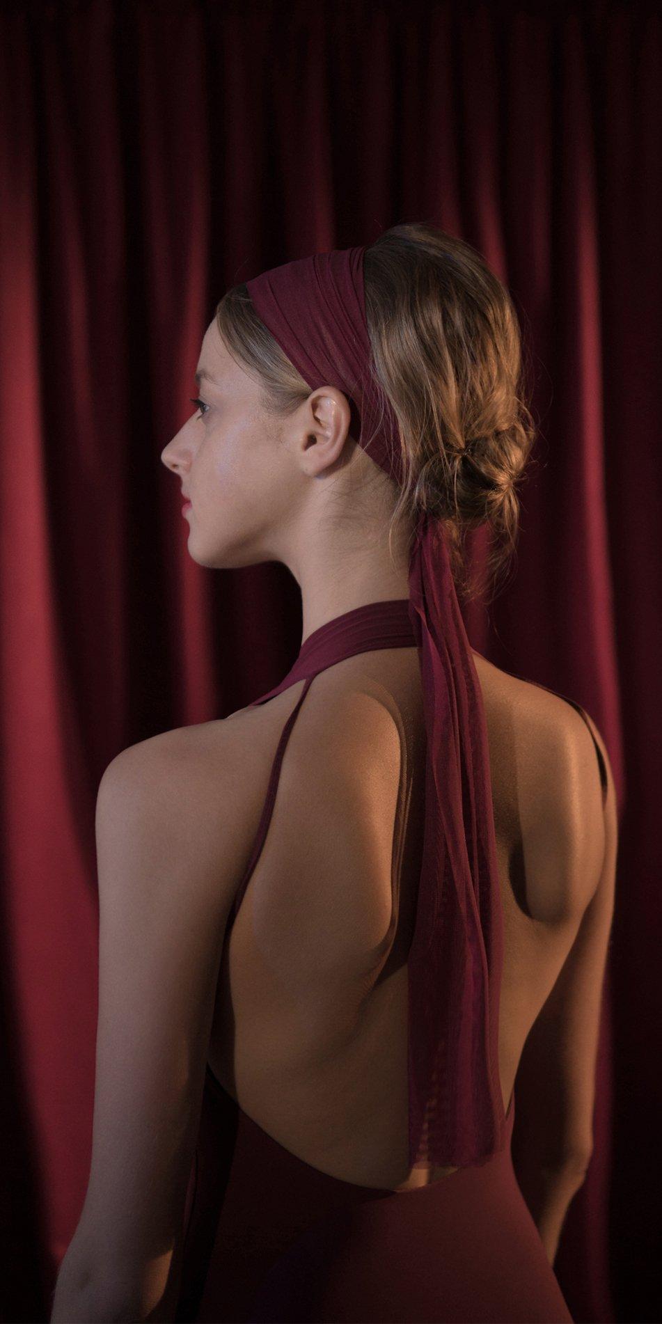BALERINA red long headband 1