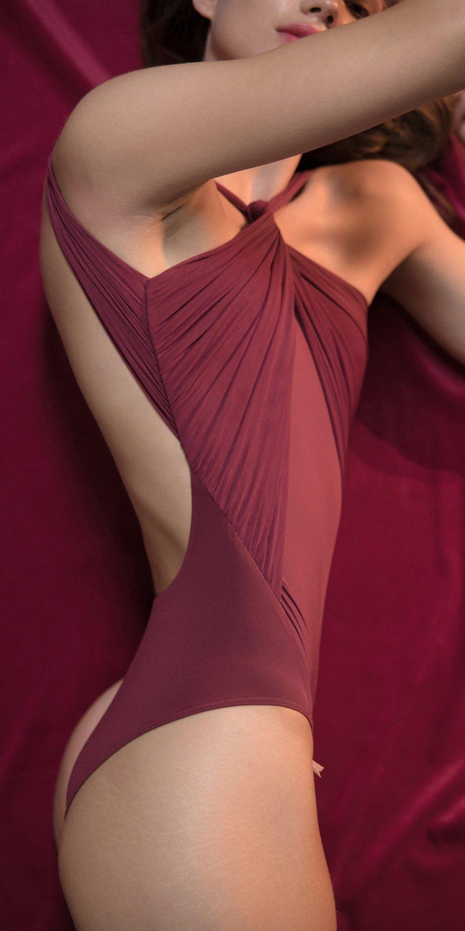 GRES red knotted neckline leotard 5