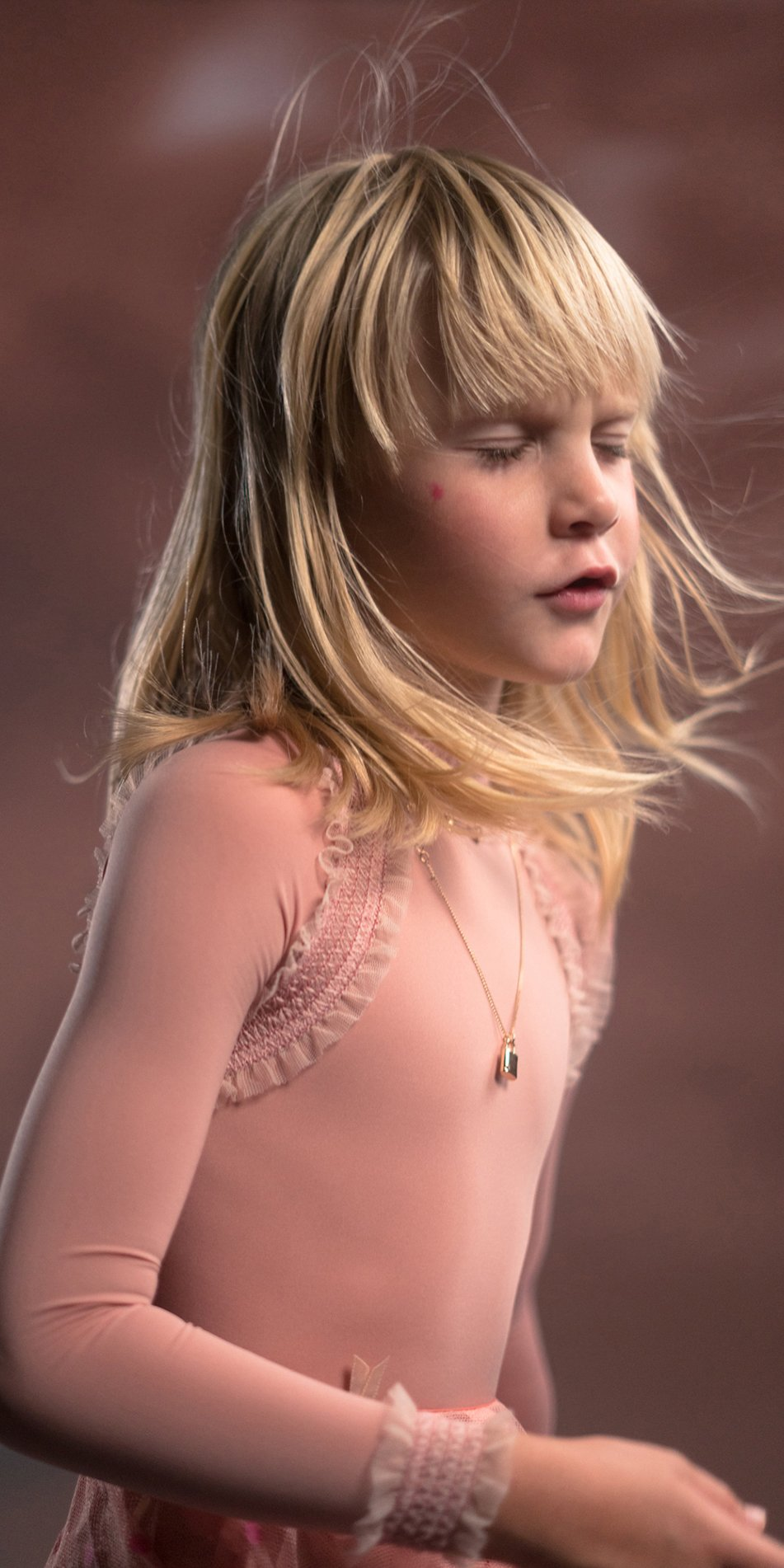 JUNIOR ELEANOR blush backless leotard junior 13