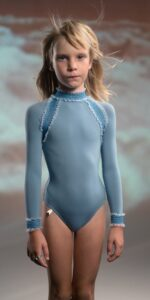 JUNIOR ELEANOR blue backless leotard 1