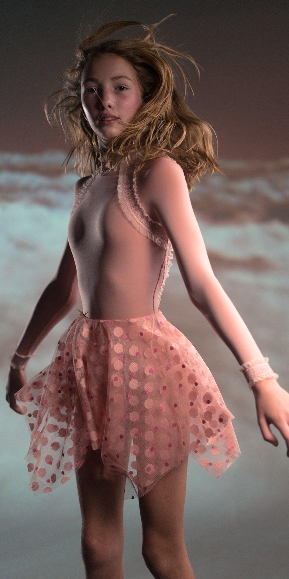 JUNIOR JUNIOR JUMBO TULLE blush square skirt 5