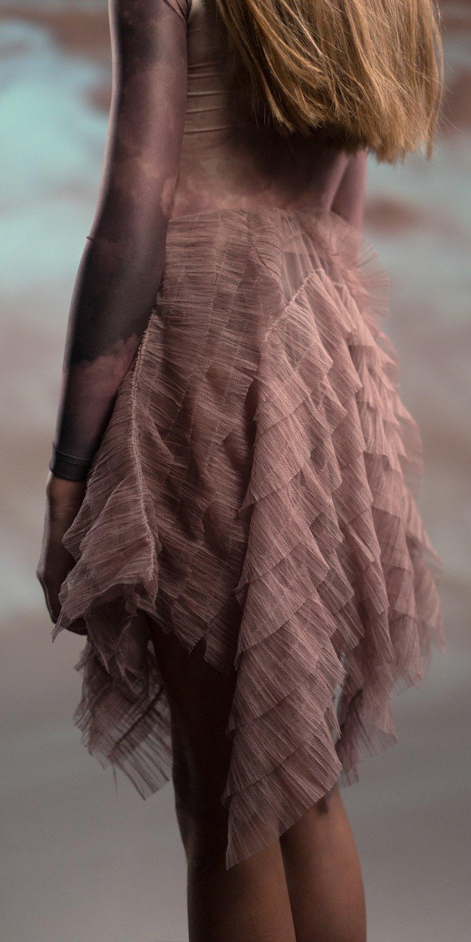 JUNIOR MILLE FEUILLE short square skirt 1