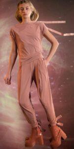 BALLERINA blush carrot pants 1