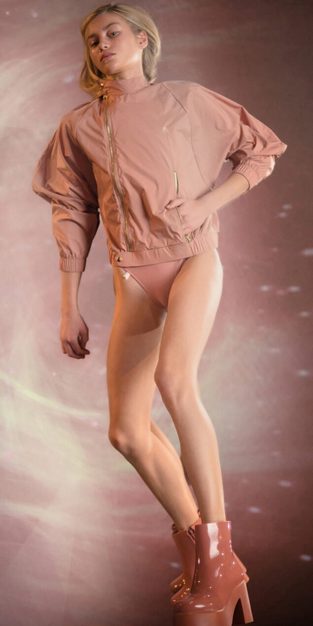 BOMBER blush batwing jacket 1