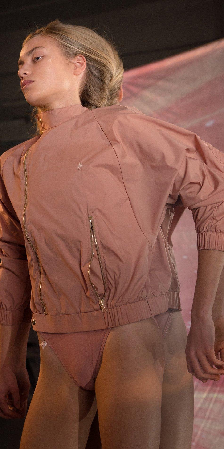 BOMBER blush batwing jacket 6