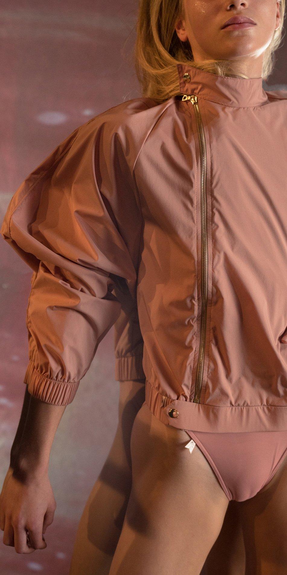 BOMBER blush batwing jacket 8