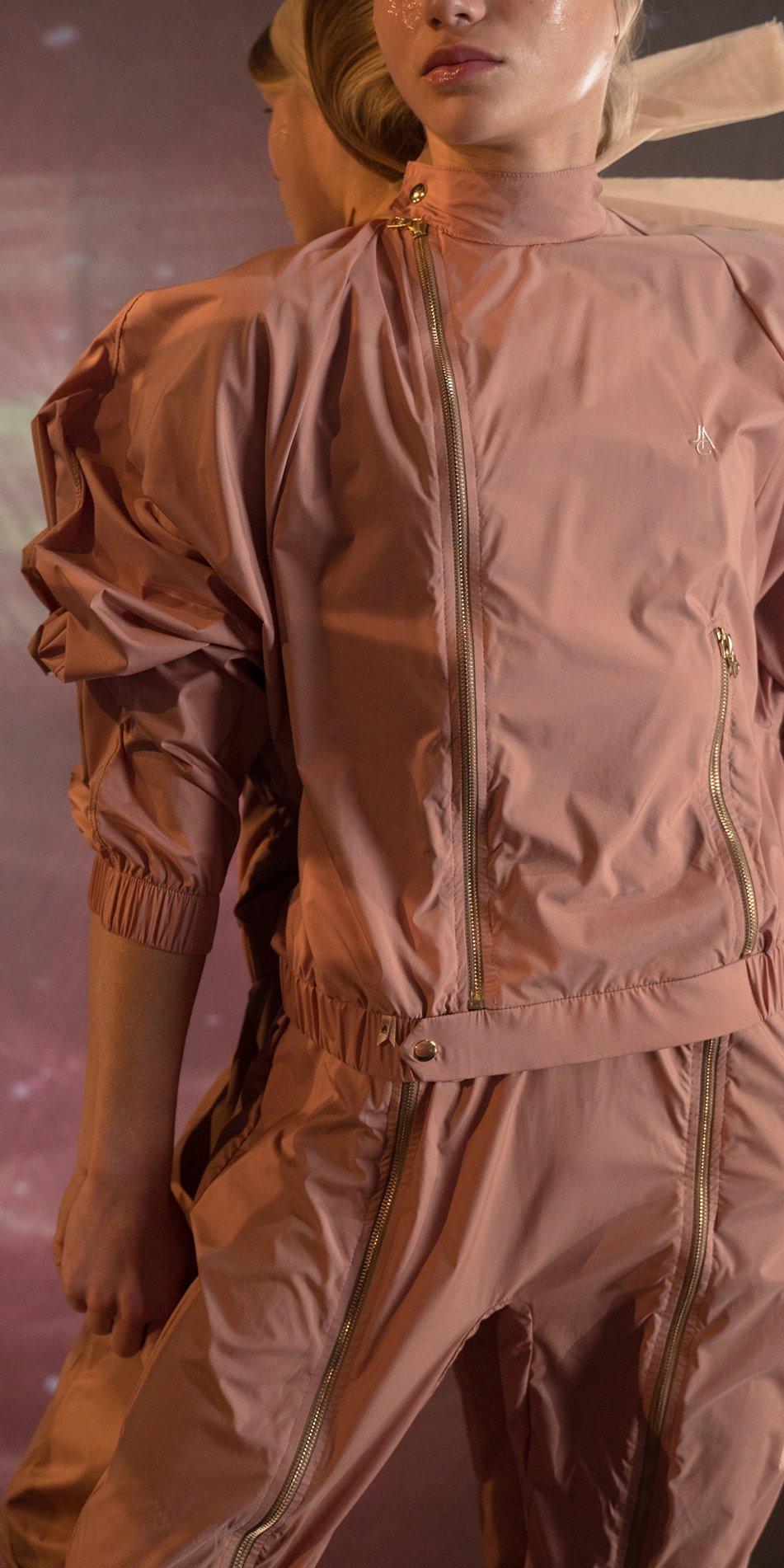 BOMBER blush double zip pants 7