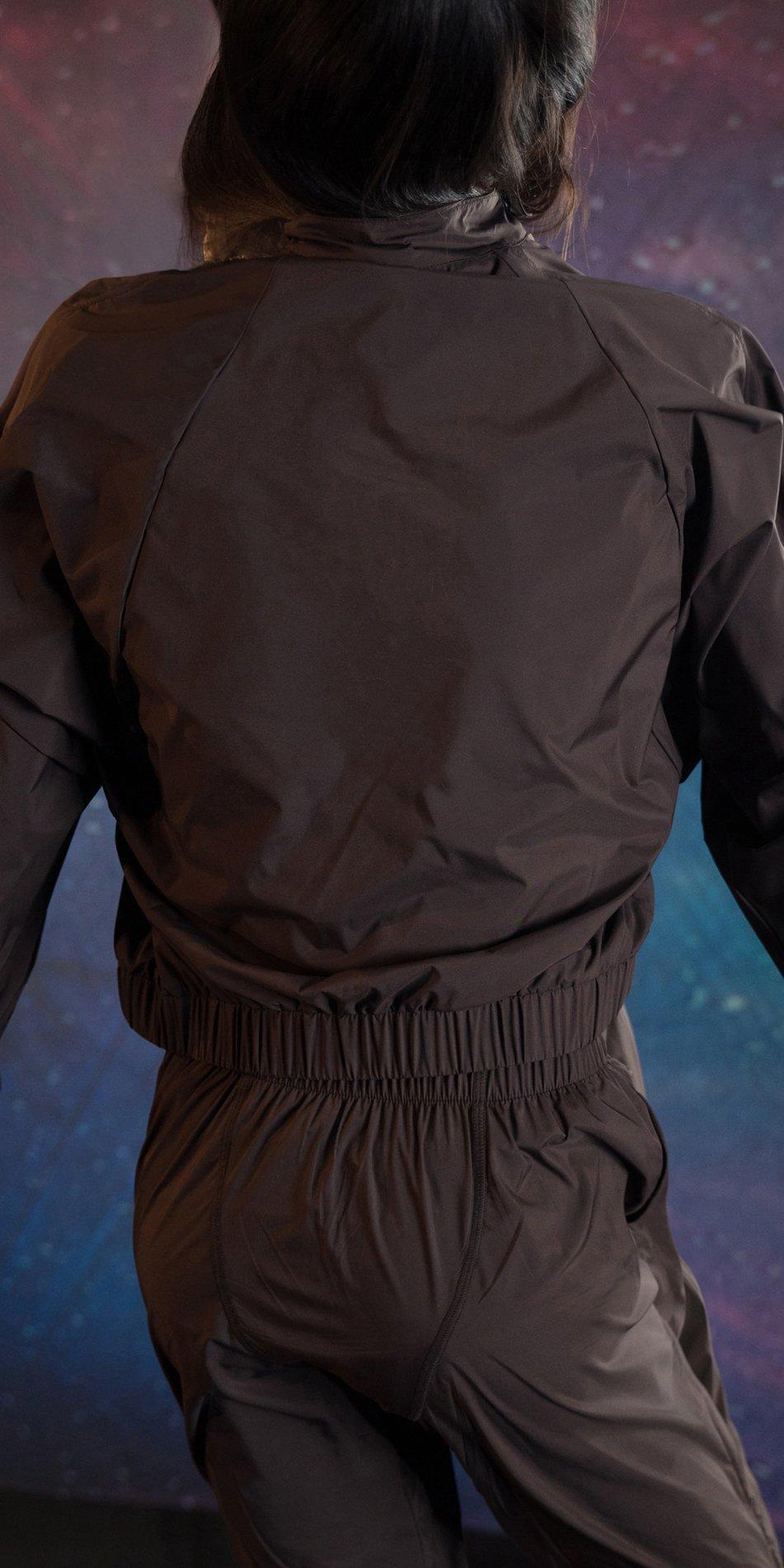 BOMBER chocolate batwing jacket 2