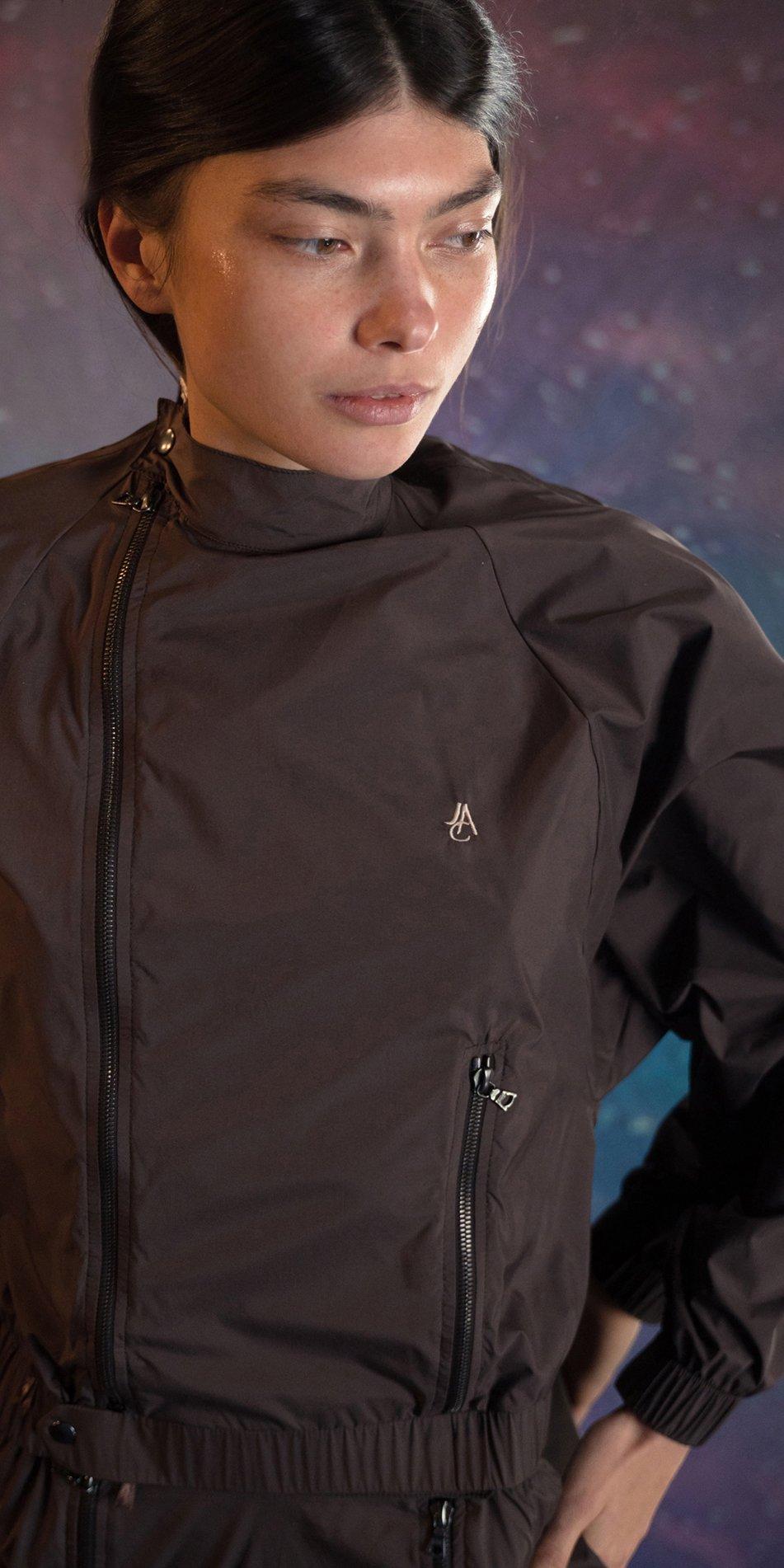 BOMBER chocolate batwing jacket 4