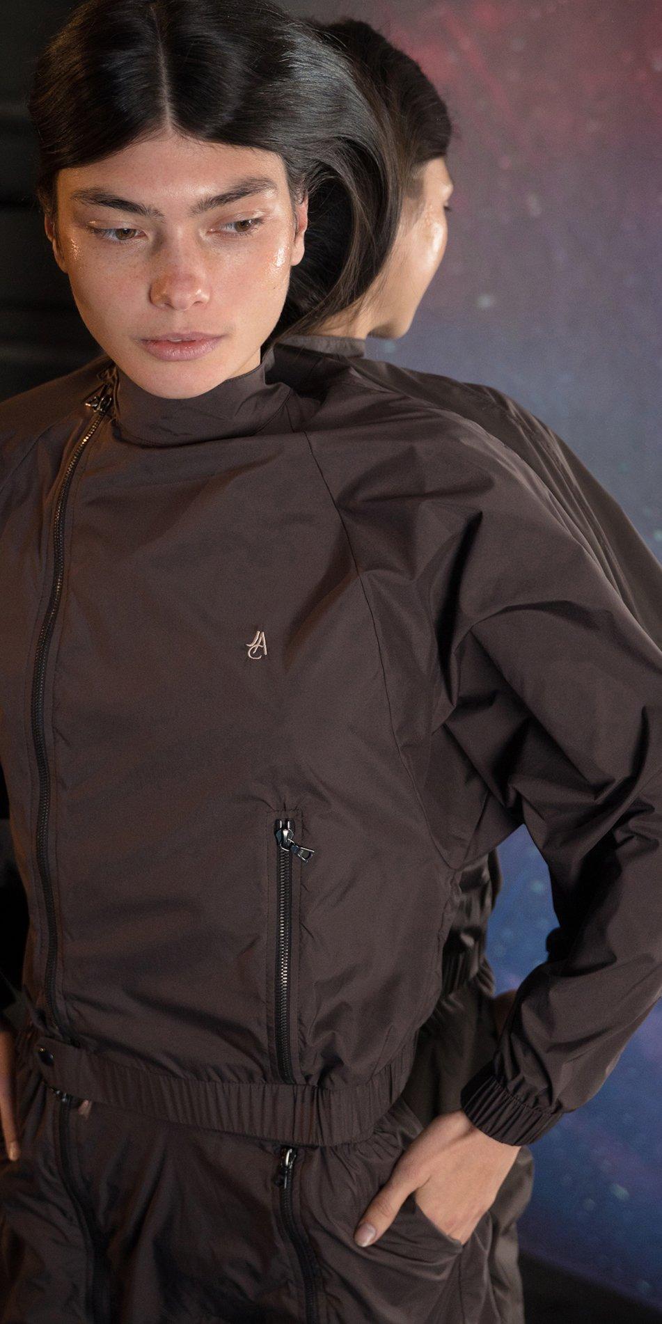 BOMBER chocolate batwing jacket 5
