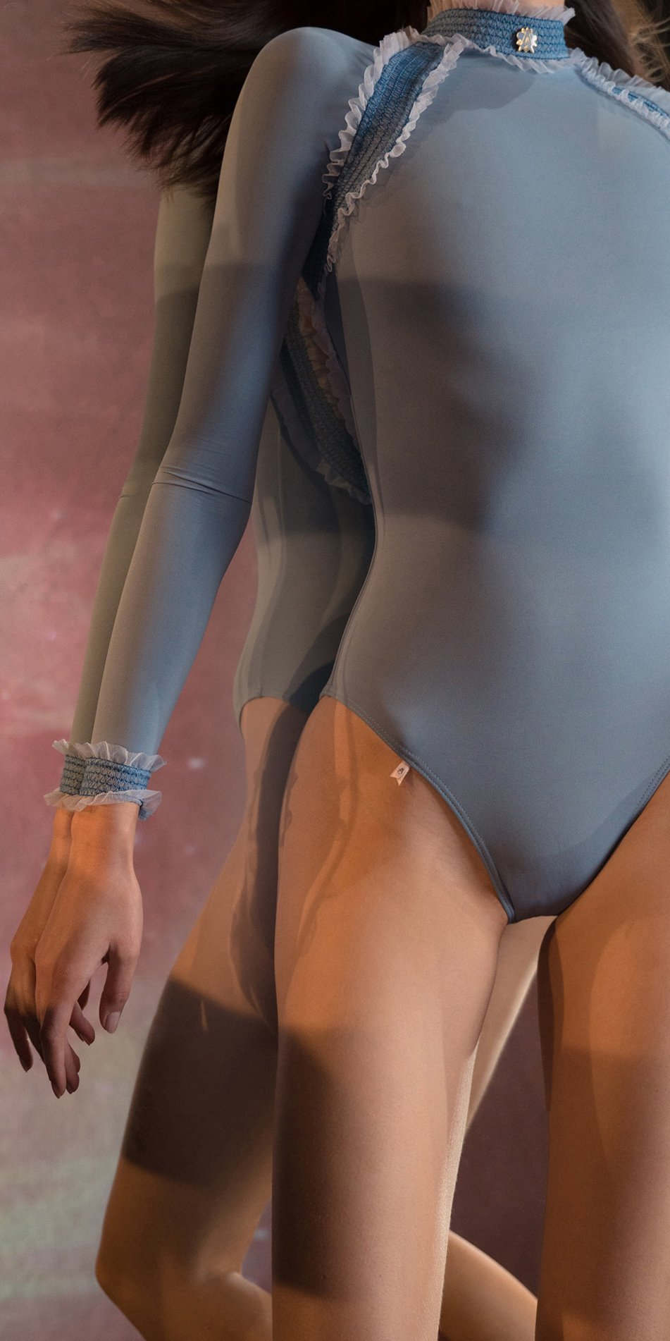 ELEANOR blue backless leotard 3