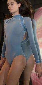 ELEANOR blue backless leotard 6
