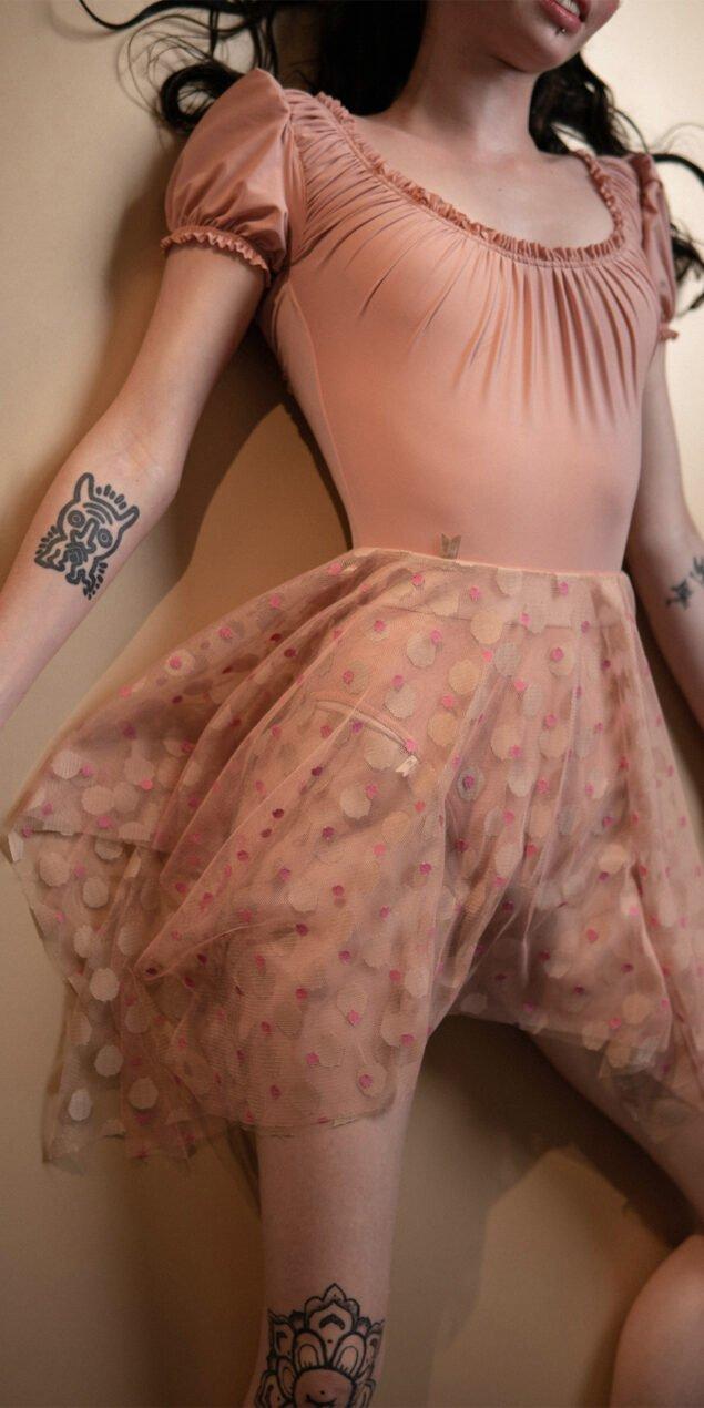 N JUMBO POLKA short skirt blush nude Bloom 2