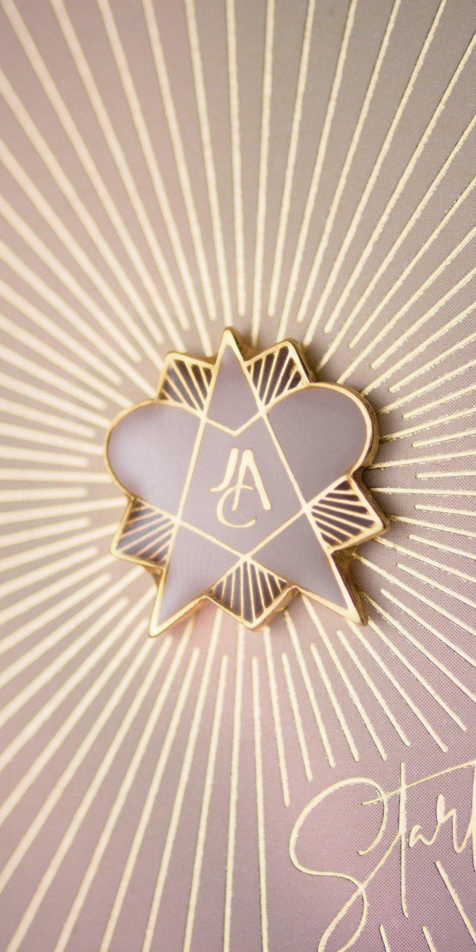 STEARHEART enamel magnetic pin alpha centauri 4