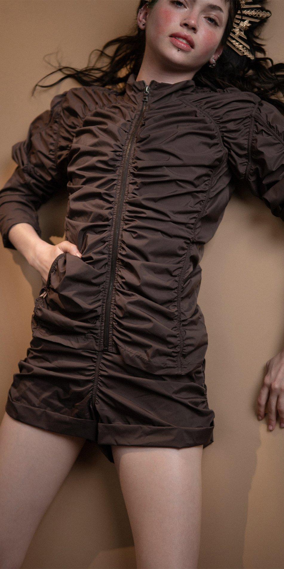 N PARACUTE chocolate draped jacket Bloom 1
