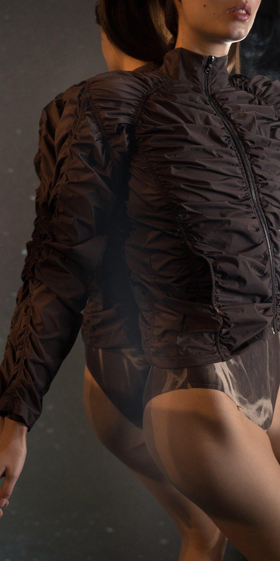 PARA CUTE chocolate draped jacket 7