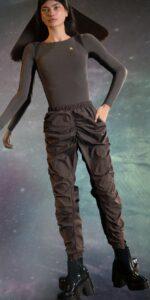 PARA CUTE chocolate draped pants 1