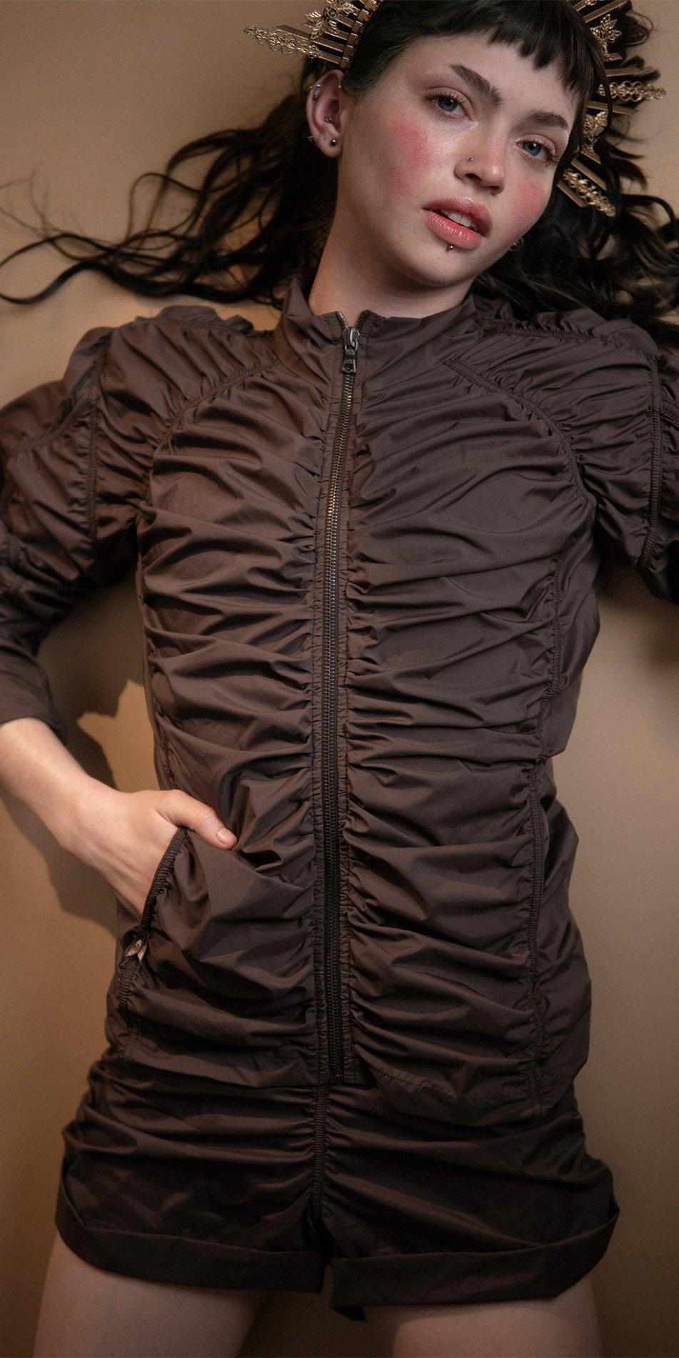 PARACUTE chocolate draped jacket Bloom 2