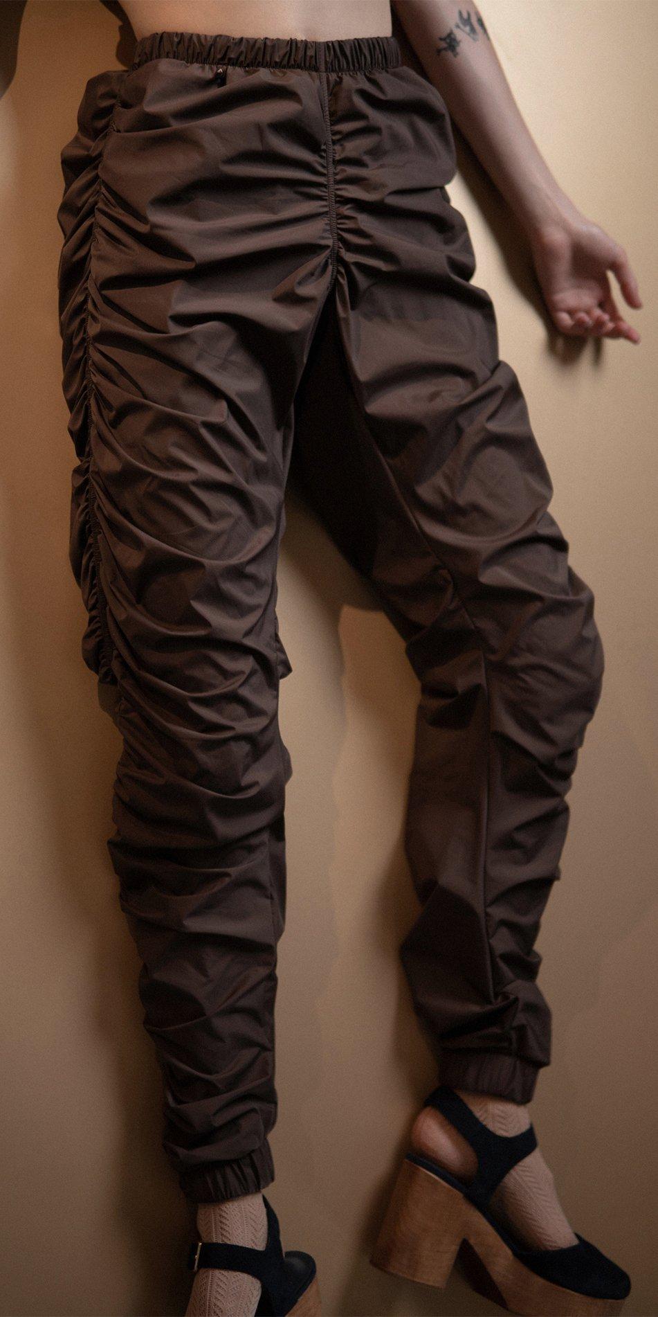PARACUTE chocolate draped pants Bloom 1