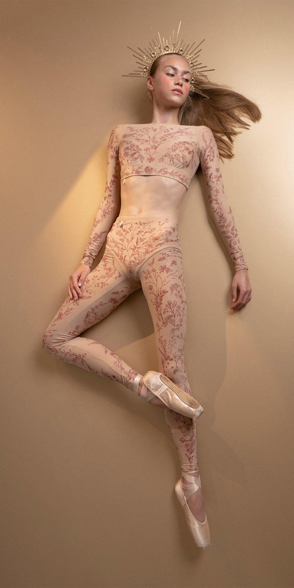 BLOOMY burgundy pantyhose 5