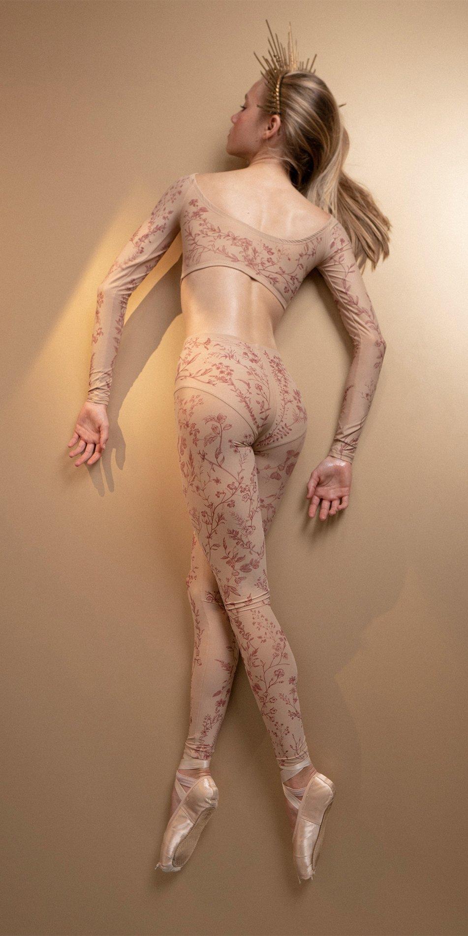 BLOOMY burgundy pantyhose 6