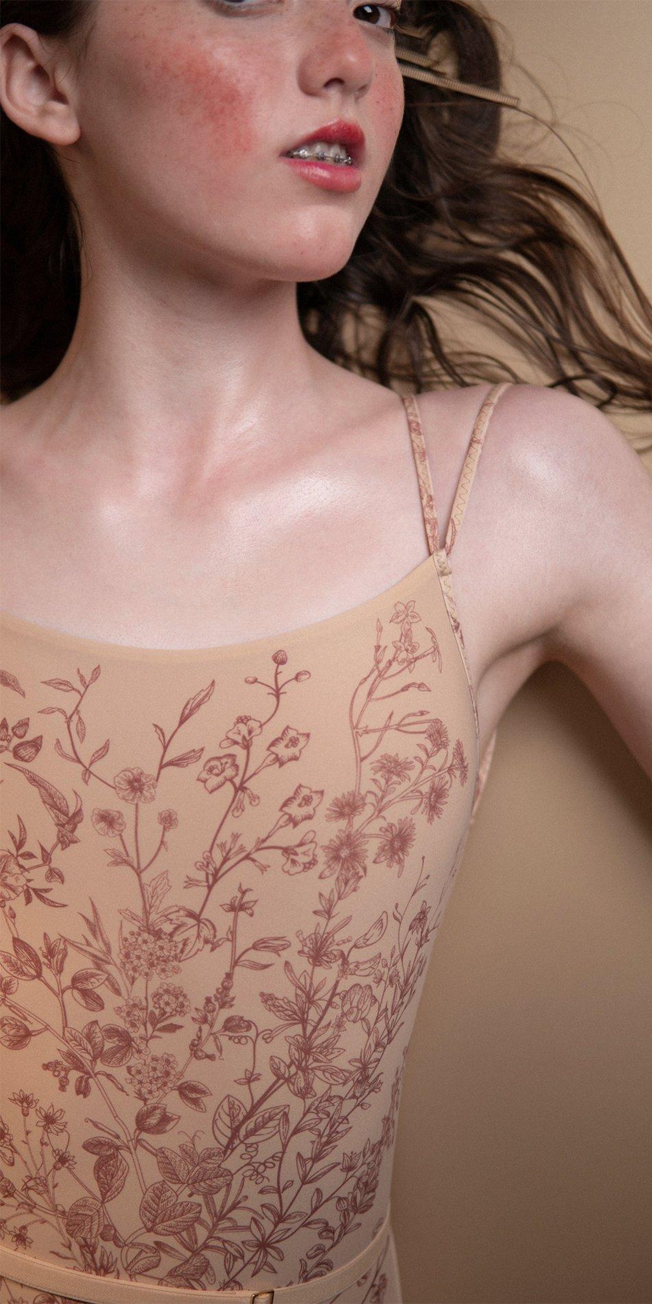 BLOOMY burgundy stringed back leotard 5