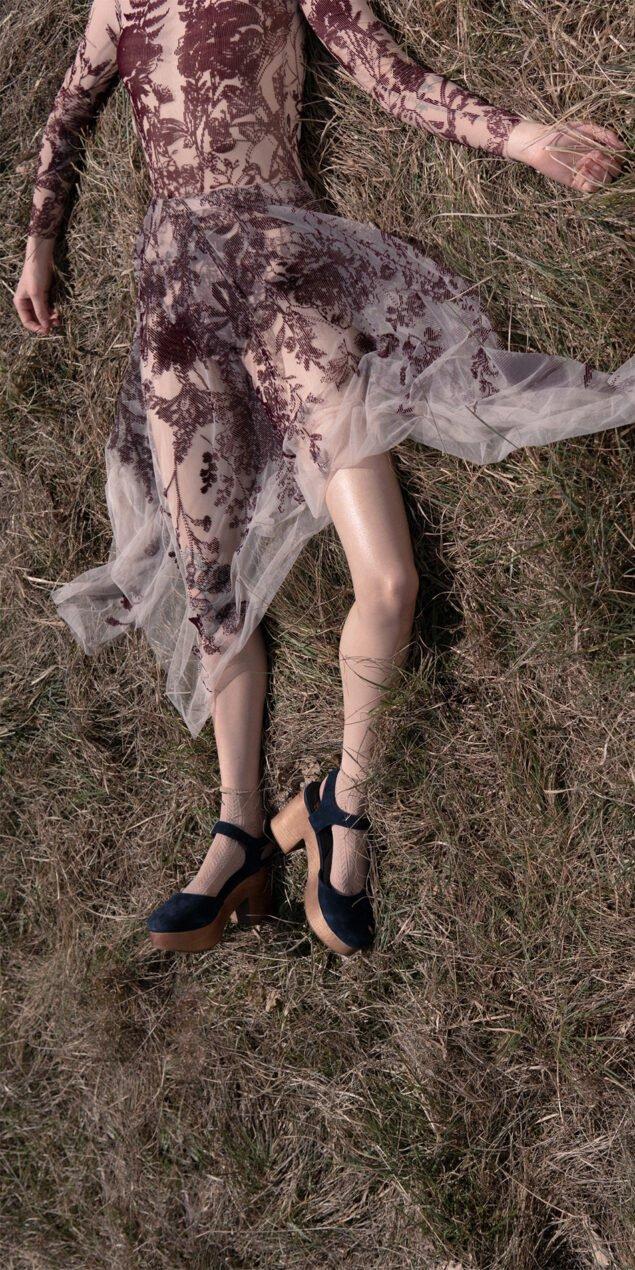 BLOSSOMS burgundy second skin flock print skirt 3 1