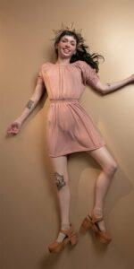BOHO blush smocked dress 3