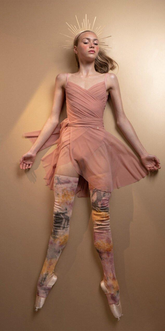 GRES blush wrap skirt 1