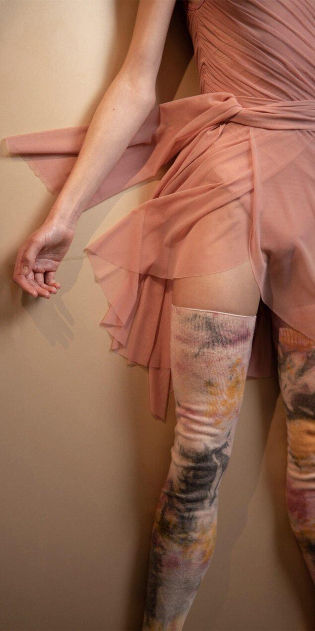 GRES blush wrap skirt 3