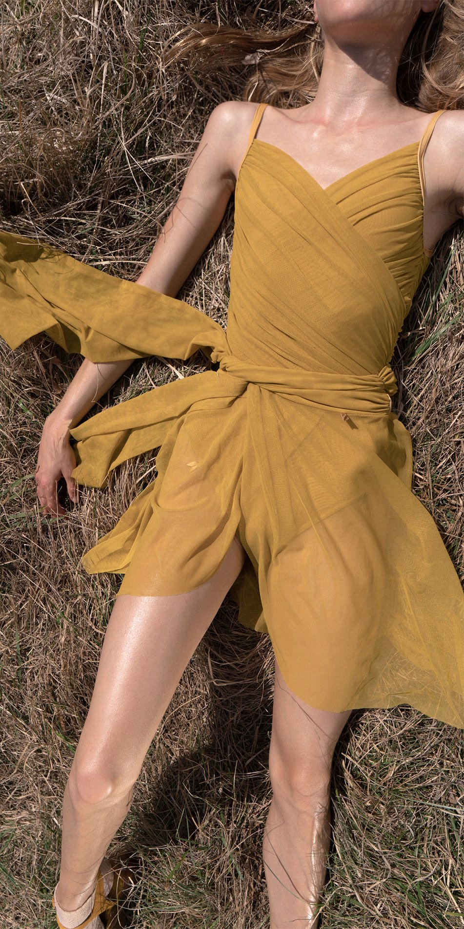 GRES mustard wrap skirt 1