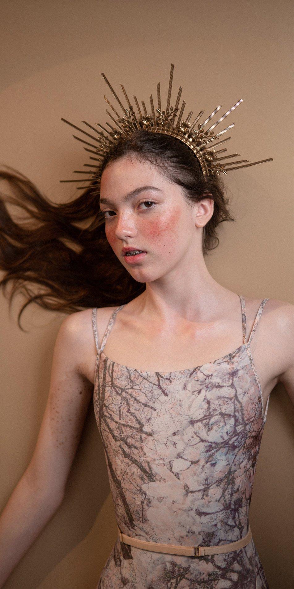 MAGNOLIA blush stringed back leotard 3