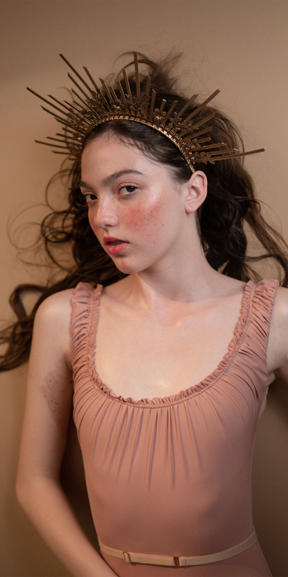 MAIDEN blush leotard with straps 4