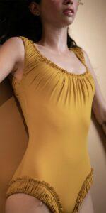 MAIDEN mustard leotard with straps 5
