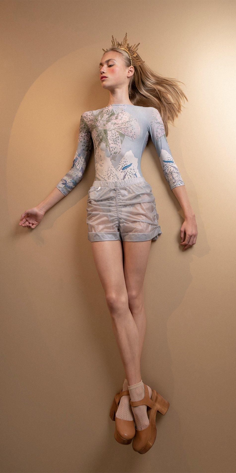 PARA CUTE ice draped shorts 7