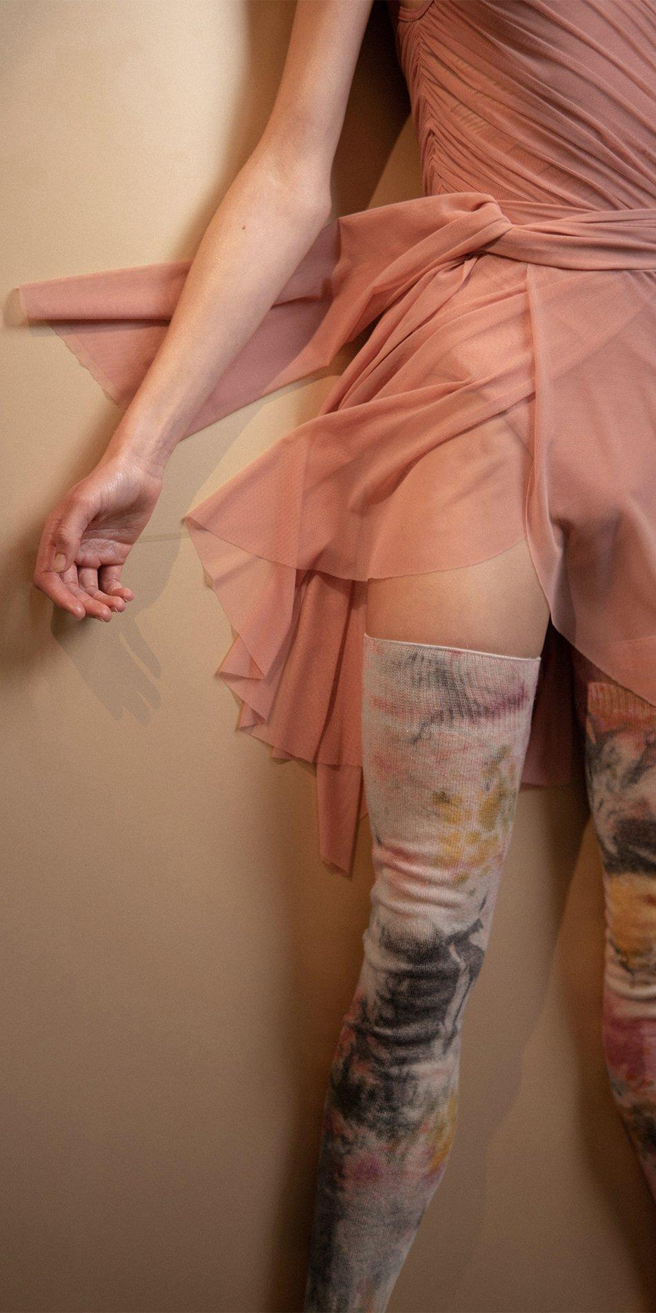 TIETIE DIE KNITWEAR leggings burgundy 4