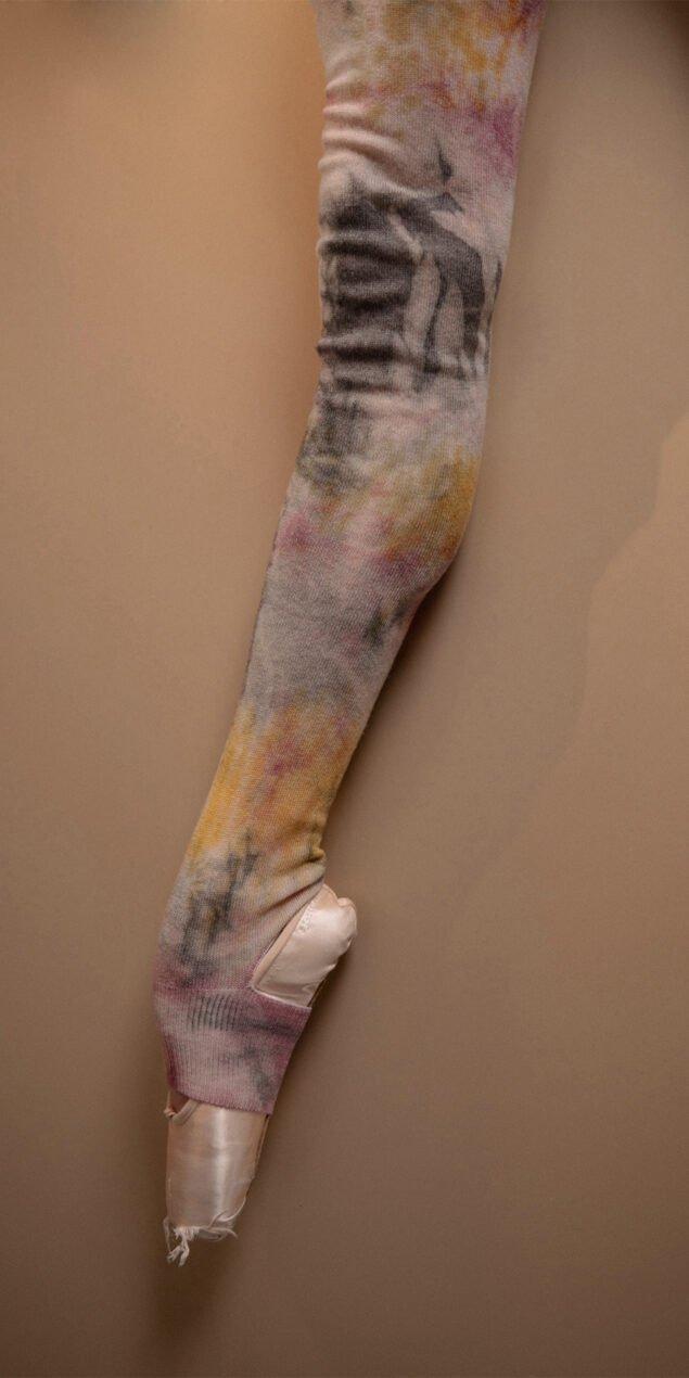 TIETIE DIE KNITWEAR leggings burgundy 7