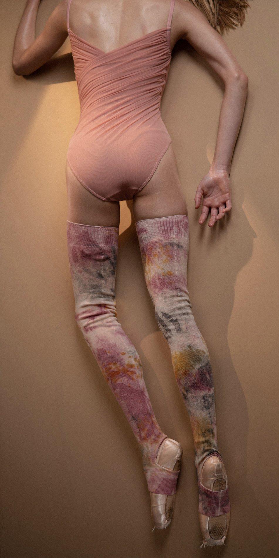 TIETIE DIE KNITWEAR leggings burgundy 9