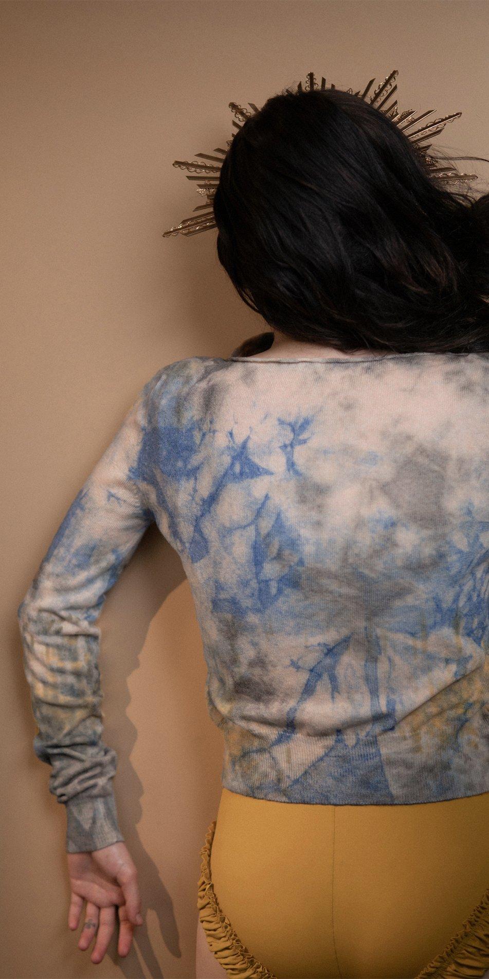 TIETIE DIE KNITWEAR sweater indigo 10