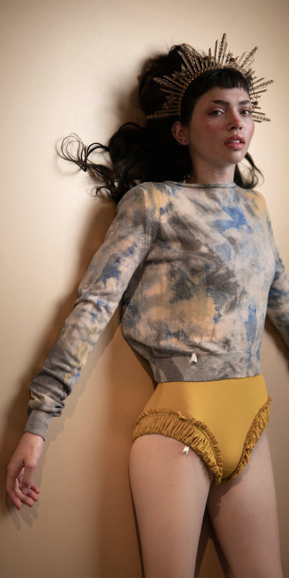 TIETIE DIE KNITWEAR sweater indigo 6