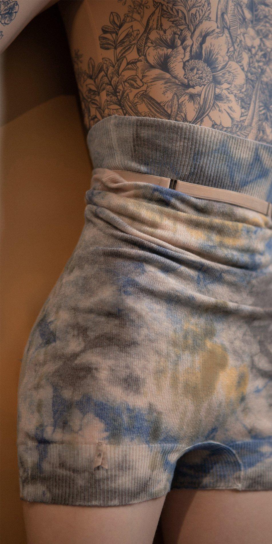 TIETIE DIE KNIWEAR shorts indigo 4