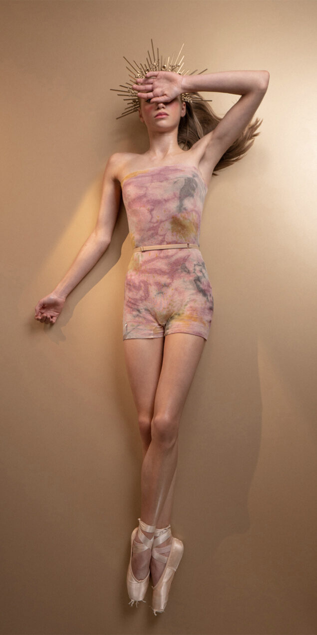 TIETIE DYE KNIWEAR shorts burgundy 10