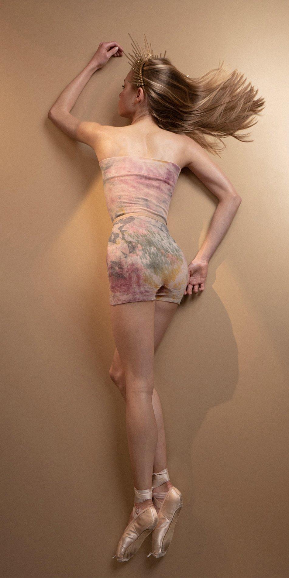 TIETIE DYE KNIWEAR shorts burgundy 11